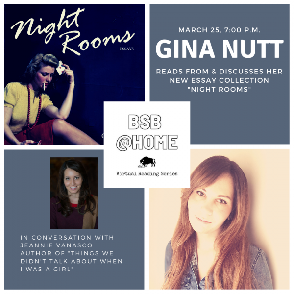 Gina Nutt author of Night Rooms in Conversation with Jeannie Vanasco